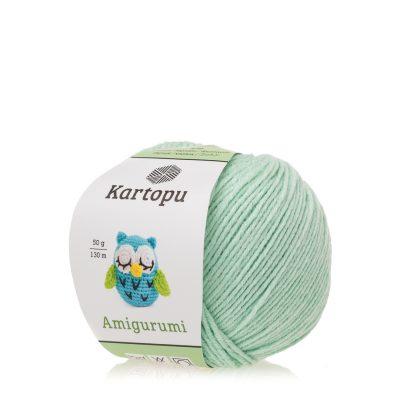 Kartopu Amigurumi K507 miętowy to akrylowo-bawełniana włóczka idealna na zabawki amigurumi.Alternatywa dla Yarn Art Jeans 50g/130m
