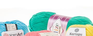 Jaką włóczkę do amigurumi wybrać? Yarn Art Jeans, Gazzal Baby Cotton, Kartopu Amigurumi, Alize Cotton Gold