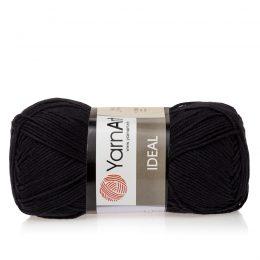 Yarn Art Ideal 221 czarny. 100% bawełny od kultowego tureckiego producenta, w przyjaznej cenie:) Idealna na zabawki i ubrania.