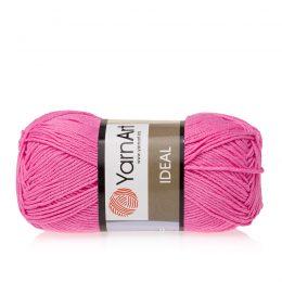 Yarn Art Ideal 231 fuksja. 100% bawełny od kultowego tureckiego producenta, w przyjaznej cenie:) Idealna na zabawki i ubrania.