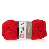 Yarn Art Ideal 237 czerwony. 100% bawełny od kultowego tureckiego producenta, w przyjaznej cenie:) Idealna na zabawki i ubrania.