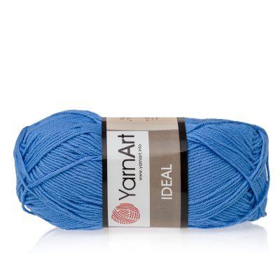 Yarn Art Ideal 239 niebieski. 100% bawełny od kultowego tureckiego producenta, w przyjaznej cenie:) Idealna na zabawki i ubrania.