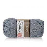 Yarn Art Ideal 244 szary. 100% bawełny od kultowego tureckiego producenta, w przyjaznej cenie:) Idealna na zabawki i ubrania.