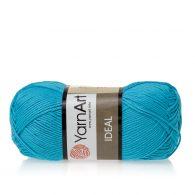 Yarn Art Ideal 247 turkusowy. 100% bawełny od kultowego tureckiego producenta, w przyjaznej cenie:) Idealna na zabawki i ubrania.