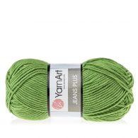 Yarn Art Jeans Plus 69 w kolorze trawiastym. Powiększona wersja Yarn Art Jeans. To świetny wybór przy tworzeniu zabawek czy poduch.