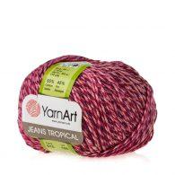 Yarn Art Jeans Tropical 615 to kolorowa propozycja największego tureckiego producenta. Jej skład to mieszanka bawełny z akrylem.