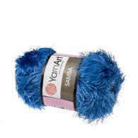 """yarn art samba 40 w kolorze niebieskim. Jest to włóczka typu """"trawka"""" w 100% wykonana z poliestru. Idelna na fantazyjne poduchy oraz pluszaki amigurumi."""