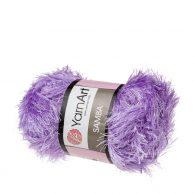 """yarn art samba 54 w kolorze wrzosowym. Jest to włóczka typu """"trawka"""" w 100% wykonana z poliestru. Idelna na fantazyjne poduchy oraz pluszaki amigurumi."""