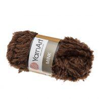 Yarn Art Mink 333 czekoladowy to pluszowa cudownie miękka włóczka typu trawka. Idealnie nadaje się na koce, zabawki i poduchy.