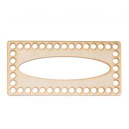 Baza do chustecznika prostokątna gładka o wymiarach 10x21cm z owalnym otworem na wyciąganie chusteczek