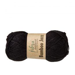 Fibra natura Bamboo Jazz 212 czarny to cudnie miękka bawełniano-bambusowa włóczka od tureckiego producenta. 50g/120m, 50%bawełny, 50%bambusa