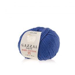 Gazzal Baby Cotton '25' 3421 kobaltto bawełniano-akrylowa włóczka występująca w wielu pięknych kolorach, idealna do amigurumi.