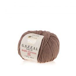 Gazzal Baby Cotton '25' 3434 latte to bawełniano-akrylowa włóczka występująca w wielu pięknych kolorach, idealna do amigurumi.