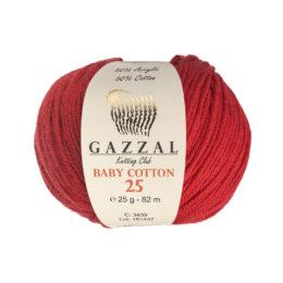 Gazzal Baby Cotton '25' 3439 czerwień to bawełniano-akrylowa włóczka występująca w wielu pięknych kolorach, idealna do amigurumi.