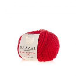 Gazzal Baby Cotton '25' 3443 czerwony to bawełniano-akrylowa włóczka występująca w wielu pięknych kolorach, idealna do amigurumi.