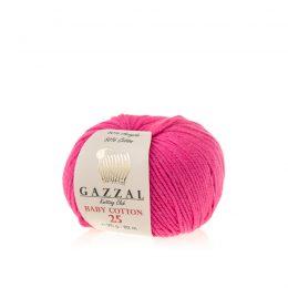 Gazzal Baby Cotton '25' 3461 słodka fuksjabawełniano-akrylowa włóczka występująca w wielu pięknych kolorach, idealna do amigurumi.
