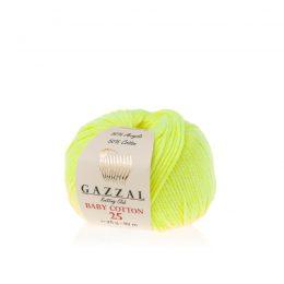 Gazzal Baby Cotton '25' 3462 neon to bawełniano-akrylowa włóczka występująca w wielu pięknych kolorach, idealna do amigurumi.