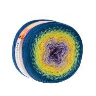 Yarn Art Flowers 257to propozycja na chusty i tuniki czy sukienki. Paleta włóczki posiada cieniowane kolory.Motki o wadze 250g mają aż 1000 metrów!