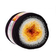 Yarn Art Flowers 259to propozycja na chusty i tuniki czy sukienki. Paleta włóczki posiada cieniowane kolory.Motki o wadze 250g mają aż 1000 metrów!