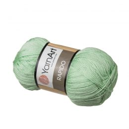 Yarn Art Rapido 697 pistacjowy to cudnie połyskująca włóczka stworzona ze 100% mikrofibry idealna na stroje kąpielowe. Na szydełko 3mm, druty 2.5mm. 100g/350m