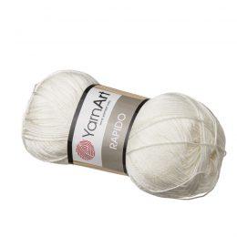 Yarn Art Rapido 671 biały to cudnie połyskująca włóczka stworzona ze 100% mikrofibry idealna na stroje kąpielowe. Na szydełko 3mm, druty 2.5mm. 100g/350m