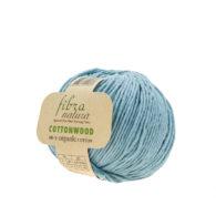 Fibranatura Cottonwood 41104 100% bawełny organicznej w kolorze gołębim. Ręcznie zbierana bawełna i farbowana według standardów EKO.