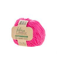 Fibranatura Cottonwood 41116 100% bawełny organicznej w kolorze fuksji. Ręcznie zbierana bawełna i farbowana według standardów EKO.