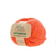 Fibranatura Cottonwood 41132 100% bawełny organicznej w kolorze pomarańczowym. Ręcznie zbierana bawełna i farbowana według standardów EKO.