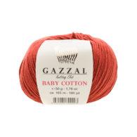 Gazzal Baby Cotton 3453 palona cegła to bawełniano-akrylowa włóczka