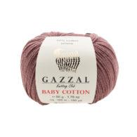Gazzal Baby Cotton 3455 mleczna czekolada to bawełniano-akrylowa włóczka
