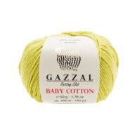 Gazzal Baby Cotton 3457 pistacja to bawełniano-akrylowa włóczka