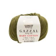 Gazzal Baby Cotton 3463 sosna to bawełniano-akrylowa włóczka