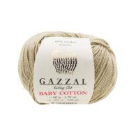 Gazzal Baby Cotton 3464 oliwka to bawełniano-akrylowa włóczka