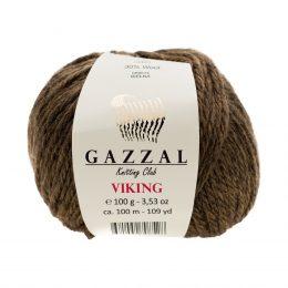 Gazzal Viking 4002 - to wełniano-akrylowa włóczka w kolorze ziemistym. Cudna i mięciutka na zimowe akcesoria