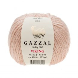 Gazzal Viking 4003 - to wełniano-akrylowa włóczka w kolorze różu. Cudna i mięciutka na zimowe akcesoria.