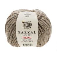 Gazzal Viking 4004 - to wełniano-akrylowa włóczka w kolorze naturalnym. Cudna i mięciutka na zimowe akcesoria.