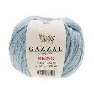 Gazzal Viking 4007 - to wełniano-akrylowa włóczka w kolorze błękitu. Cudna i mięciutka na zimowe akcesoria.
