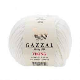 Gazzal Viking 4009 - to wełniano-akrylowa włóczka w kolorze bieli. Cudna i mięciutka na zimowe akcesoria.