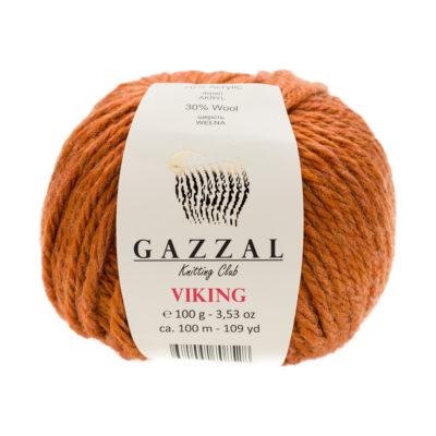 Gazzal Viking 4020 - to wełniano-akrylowa włóczka w kolorze rudym. Cudna i mięciutka na zimowe akcesoria.