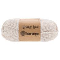 Kartopu Melange Wool MK00837 to miękka akrylowo-wełniana włóczka idealna na swetry, czapki, szaliki i inne akcesoria zimowe.