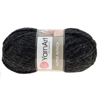 Yarn Art Alpine Alpaca 439 wełniano-akrylowa włóczka w kolorze czarnym z dodatkiem wełny z alpaki. Mięciutka propozycja na zimowe akcesoria.