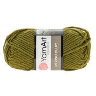 Yarn Art Merino Bulky 530 w kolorze ciemnej zieleni to cieplutka wełniano-akrylowo włóczka idealna na czapki, swetry, szale czy koce.