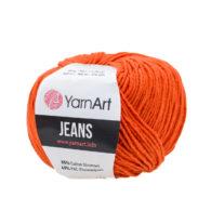 Włóczka Yarn Art Jeans 85 w kolorze rudym to kultowa propozycja największego tureckiego producenta. Jej skład to mieszanka bawełny z akrylem.