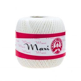 Madame Tricote Paris Maxi 0003, kolor złamanej bieli. Jest to 100% bawełna merceryzowana w czarnym kolorze. Idealny na świąteczne ozdoby