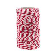 Sznurek bawełniany biało-czerwonyidealnie sprawdzi się jako kreatywny dodatek do pakowania prezentów czy paczek w naturalnym, modnym ekostylu.