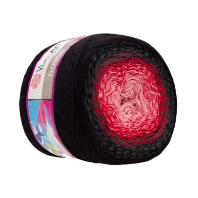 Yarn Art Flowers 282 to propozycja na chusty i tuniki czy sukienki. Paleta włóczki posiada cieniowane kolory.Motki o wadze 250g mają aż 1000 metrów!