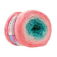 Yarn Art Flowers 292 to propozycja na chusty i tuniki czy sukienki. Paleta włóczki posiada cieniowane kolory.Motki o wadze 250g mają aż 1000 metrów!
