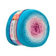 Yarn Art Flowers 294 to propozycja na chusty i tuniki czy sukienki. Paleta włóczki posiada cieniowane kolory.Motki o wadze 250g mają aż 1000 metrów!