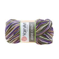 Yarn Art Jeans Crazy 7207 cieniowana kolorowa włóczka do amigurumi. 50 g włóczki to 160m przędy od tureckiego producenta.