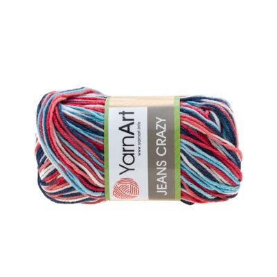 Yarn Art Jeans Crazy 7208 cieniowana kolorowa włóczka do amigurumi. 50 g włóczki to 160m przędy od tureckiego producenta.